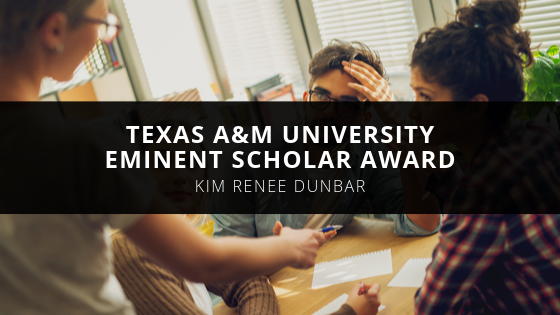 Texas A&M University Honors Kim Renee Dunbar with Eminent Scholar Award