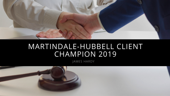 James Hardy, Connecticut Attorney, Named Martindale-Hubbell Client Champion 2019