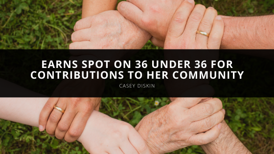 Casey Diskin Earns Spot on 36 Under 36 for Contributions to her Community
