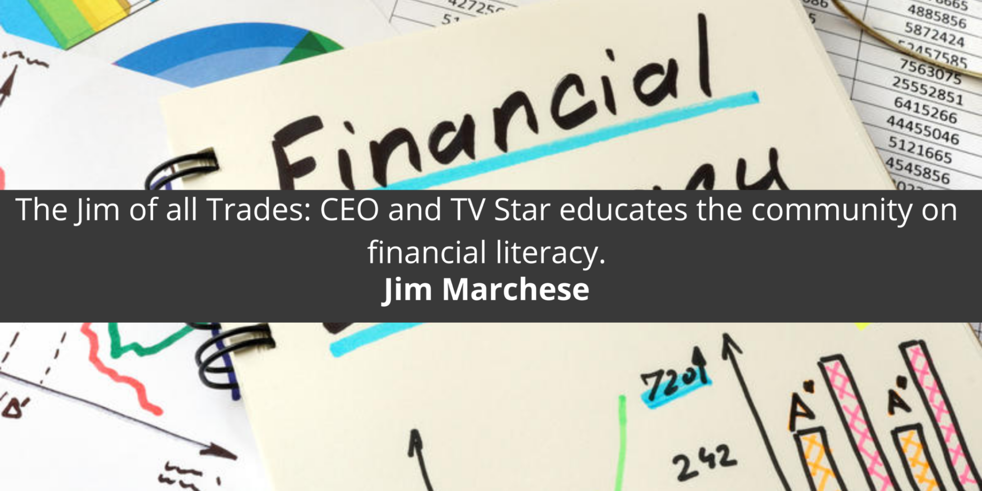 The Jim of all Trades: CEO and TV Star educates the community on financial literacy.